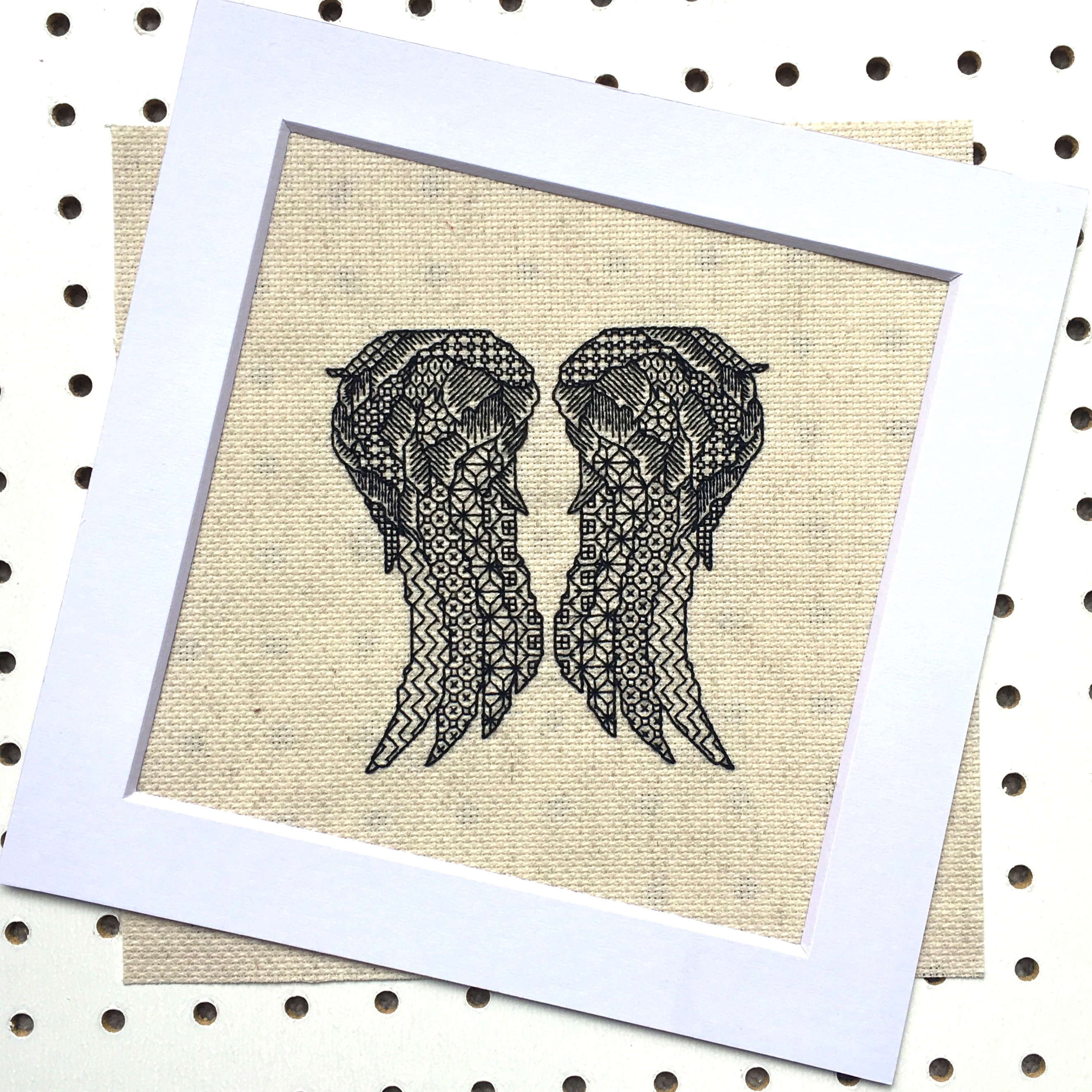 Daryls Wings White Frame