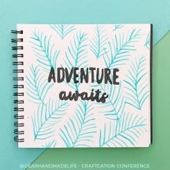 adventure awaits blue green